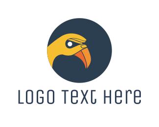 Gesture - Yellow Hand Bird logo design