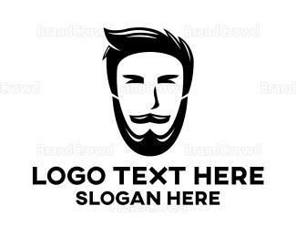 Barber Shop - Hipster Beard logo design
