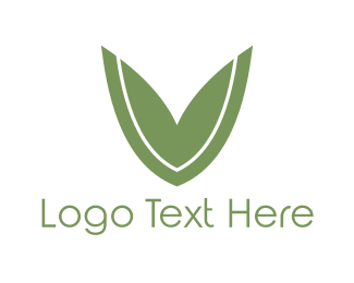 Cleanser - Leaf Letter V logo design