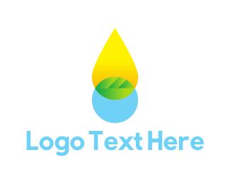 Biology - Oil Drop logo design