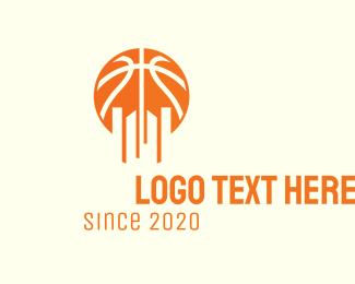 Construction - Hoops Basketball City logo design