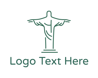 Trip - Christ Statue Outline logo design