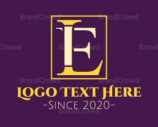 Letter L - L & E logo design