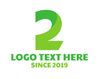 Number 2 - Green Number 2 logo design