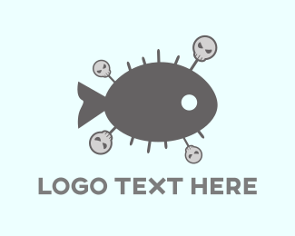 Bone - Voodoo Fish logo design