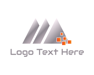 Metal - Silver Triangles logo design