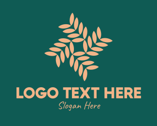 Foliage - Brown Vegetation Pattern logo design