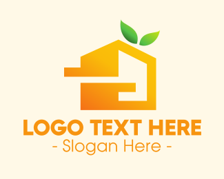 Pentagon - Modern Fruity House logo design