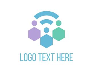 Wifi - Hive Signal logo design