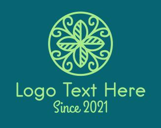 Ornamental - Green Leaf Ornament  logo design