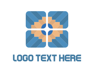 Blogger - Pencil Tile logo design