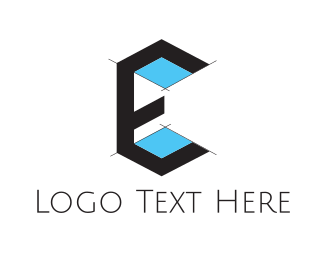 Architecture Drawing Letter E Logo