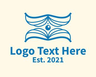 Online Learning - Blue Learning Book logo design
