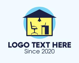 Job - Work Home Office Studio logo design