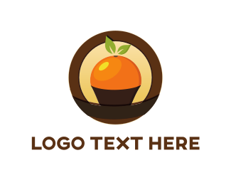 Citrus - Orange Cupcake logo design