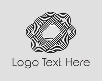 Molecule - Atom Flower logo design