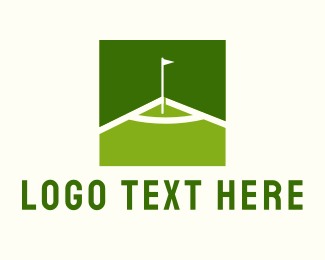Golf Resort - Green Golf Course logo design