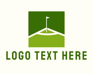 Golf Course - Green Golf Course logo design
