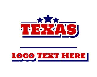 Texan - Texas Font logo design