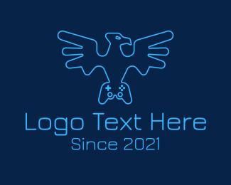 Control Pad - Eagle Game Controller logo design