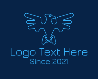 Twitch - Eagle Game Controller logo design