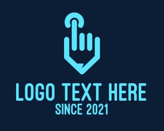 Blue Hand Power Logo