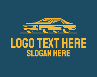 Automotive - Classic Yellow Car logo design