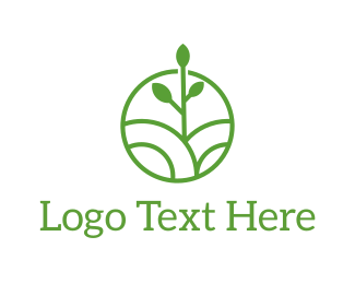 Trees - Green Organic Circle logo design