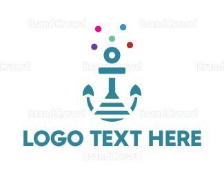 Aqua - Anchor Lab logo design