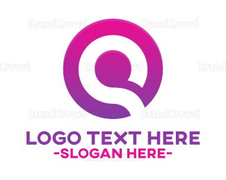 Blue And Purple - Purple Letter Q logo design