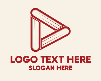 Book Club - Book Play Button logo design