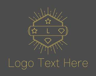 Hipster - Hipster Hexagon Emblem logo design