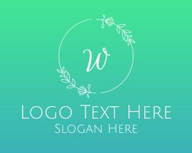 Brand - Wedding Wreath Lettermark logo design