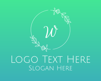 Wedding Wreath Lettermark Logo