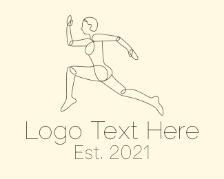 Fit - Minimalist Runner logo design