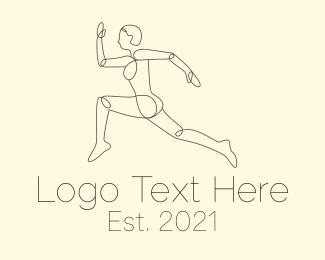 Training - Minimal Runner logo design