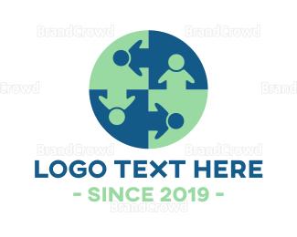 Human - Human Circle logo design
