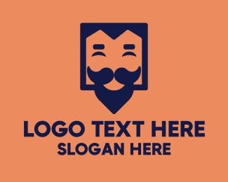 Mysterious - Hipster Guy logo design