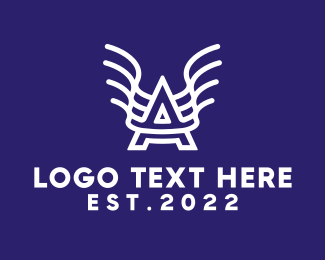 Typography - Hero Letter A logo design