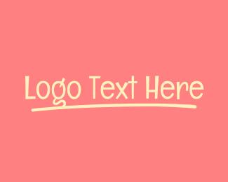 Chalk - Childish Signature Wordmark logo design
