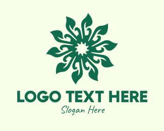 Decorative - Decorative Green Leaf logo design