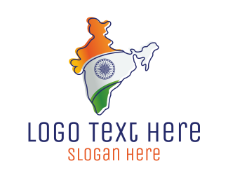 Immigration - Modern India Outline logo design