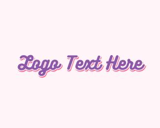 Purple Cupcake - Cute Purple Handwriting  logo design