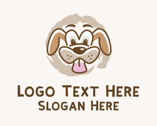 Pet Food - Wacky Dog Face logo design