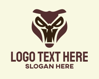 Characters - Furious Angry Animal Head logo design