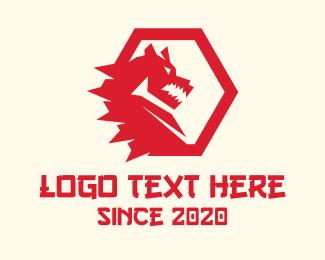 Dragon Head - Red Hot Dragon logo design