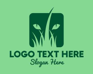 Grass - Wild Cat Grass logo design