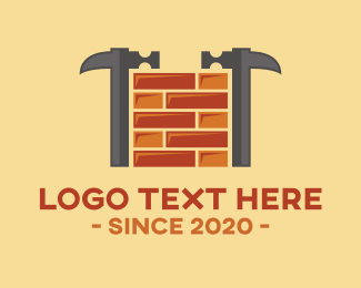 Brick Hammer Construction Logo