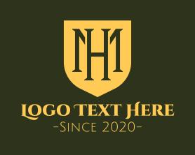 """Medieval Monogram Shield M & H"" by RistaDesign"