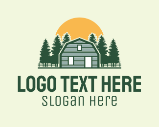 Barn - Barn House Forest  logo design